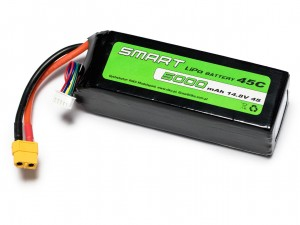 SMART #L4S5000S - Pakiet LiPo 4s 14,8v 5000mAh 45C SoftCase