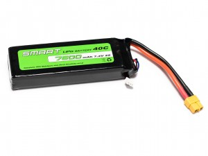 SMART #L2S7600S - Pakiet LiPo 2s 7,4v 7600mAh 40C SoftCase